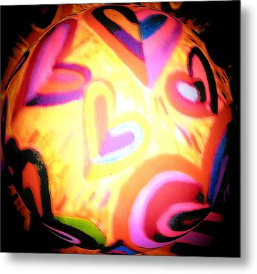 Witches Ball Metal Print by Brenda Adams