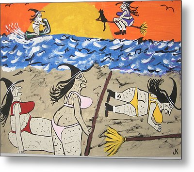 Witches Day At The Beach Metal Print by Jeffrey Koss