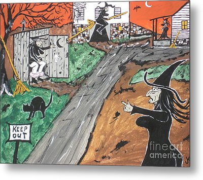 Witches Outhouse Metal Print