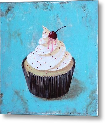 With A Cherry On Top Metal Print by T Fry-Green