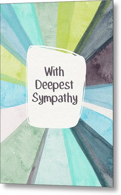 With Deepest Sympathy- Art By Linda Woods Metal Print