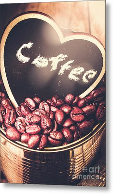 With Light And Coffee Love Metal Print by Jorgo Photography - Wall Art Gallery