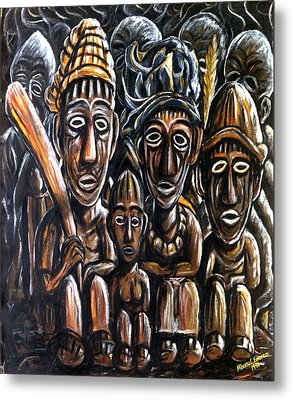 With Love A Family In Harmony Metal Print by Mbonu Emerem