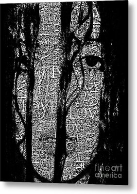 With Love.. - Black And White  Metal Print by Prar Kulasekara