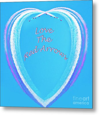 With Love From The Red Arrows Metal Print