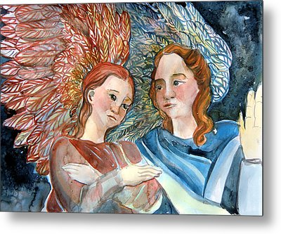 With Peace On Earth Metal Print by Mindy Newman