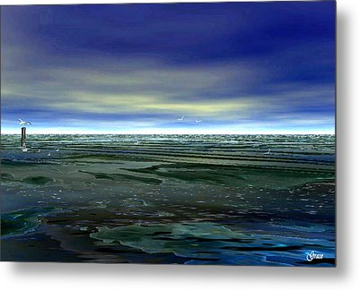 With The Incoming Tides Metal Print by Julie Grace