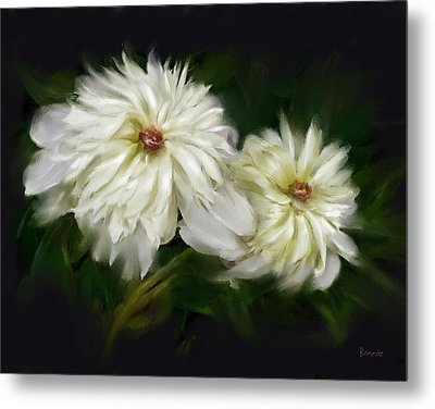 Metal Print featuring the painting Withering Peony by Bonnie Willis