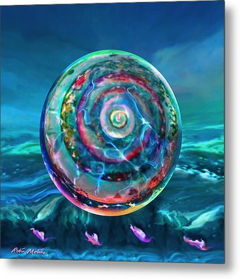Withstanding Orby Weather Metal Print by Robin Moline