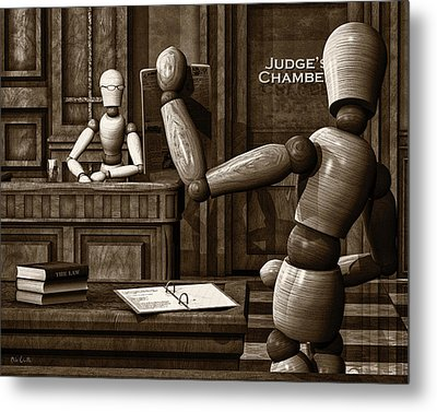 Witness For The Prosecution Metal Print by Bob Orsillo
