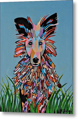 Metal Print featuring the painting Wiz by Kathleen Sartoris
