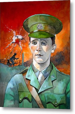 Metal Print featuring the painting W.j. Symons Vc by Ray Agius