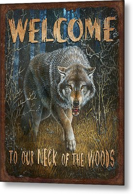 Wold Neck Of The Woods Metal Print