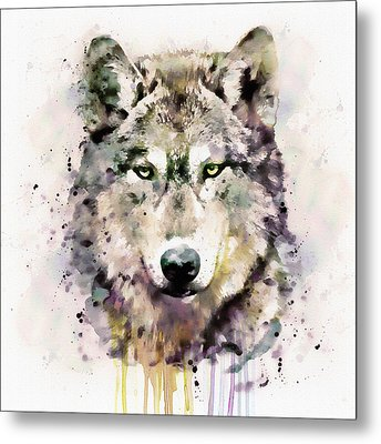 Wolf Head Metal Print by Marian Voicu