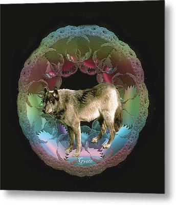 Wolf Metal Print by Julie Grace