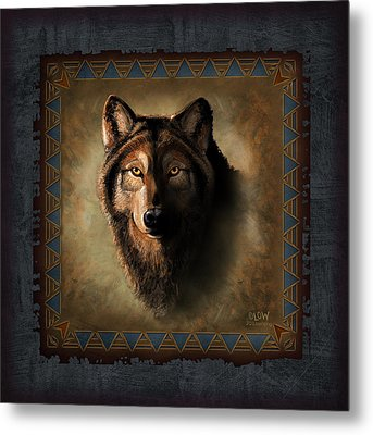 Wolf Lodge Metal Print by JQ Licensing