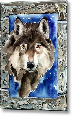 Wolf Metal Print by Nadi Spencer