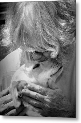 Woman And Dog Metal Print by Kelly Hazel