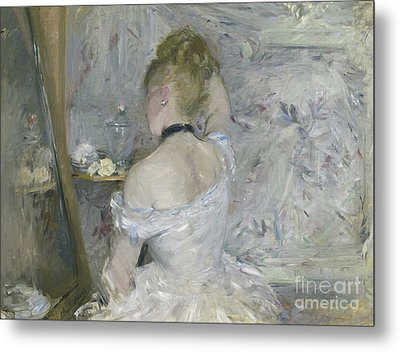 Woman At Her Toilette Metal Print