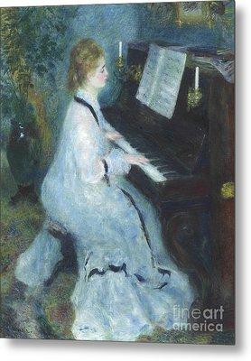 Woman At The Piano Metal Print by Pierre Auguste Renoir