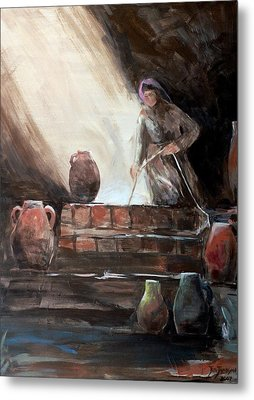 Woman At The Well  Metal Print by Jun Jamosmos
