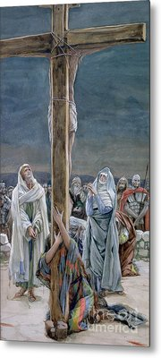 Woman Behold Thy Son Metal Print by Tissot