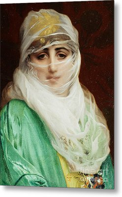 Woman From Constantinople Metal Print by Jean Leon Gerome