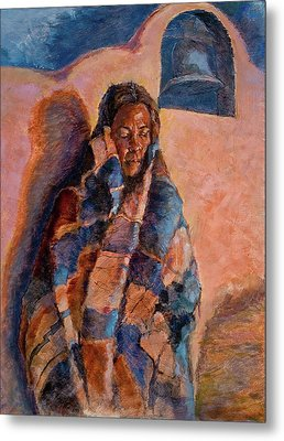 Woman In A Serape Metal Print