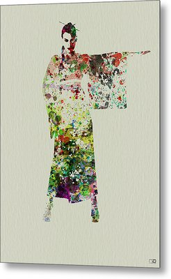 Woman In Kimono Metal Print by Naxart Studio