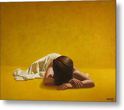 Woman In Yellow Metal Print by Horacio Cardozo