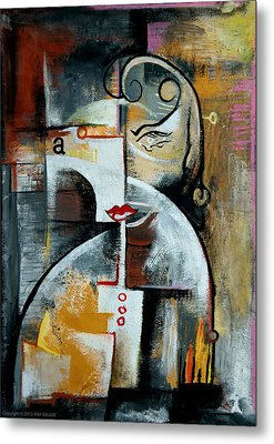 Metal Print featuring the painting Woman by Kim Gauge
