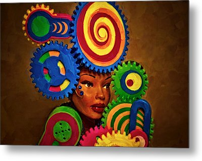 Woman Of Colors  Metal Print by Jeff  Gettis