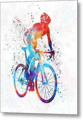 Woman Triathlon Cycling 06 Metal Print by Pablo Romero