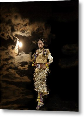 Woman Who Dances With Moon Metal Print by Irma BACKELANT GALLERIES