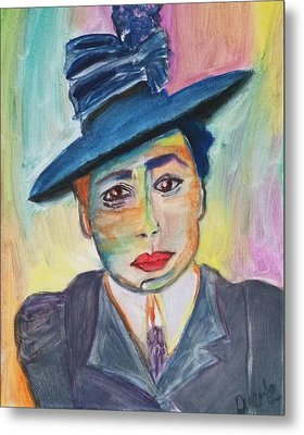 Metal Print featuring the painting Woman With A Hat by Carol Duarte