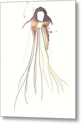 Woman With Dress From Chloe Metal Print by Toril Baekmark