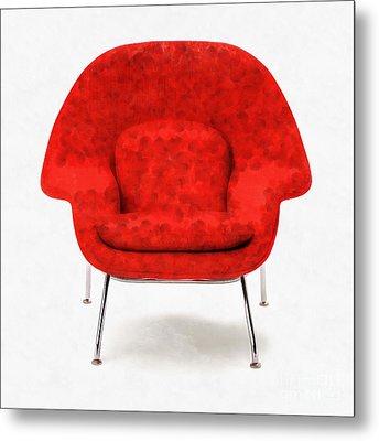 Womb Chair Mid Century Modern Metal Print by Edward Fielding