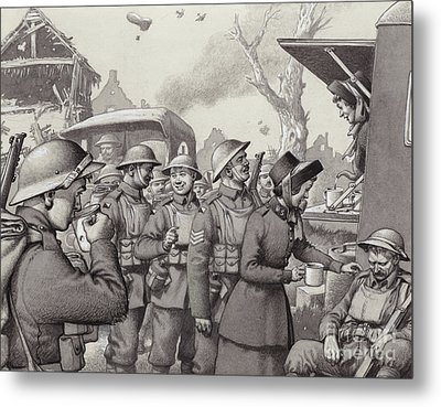 Women From The Salvation Army During The Great War Metal Print by Pat Nicolle