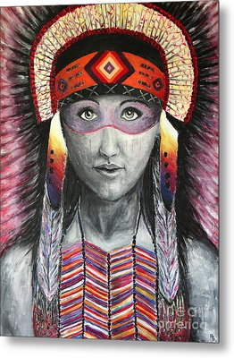 Women From The Tribe Metal Print