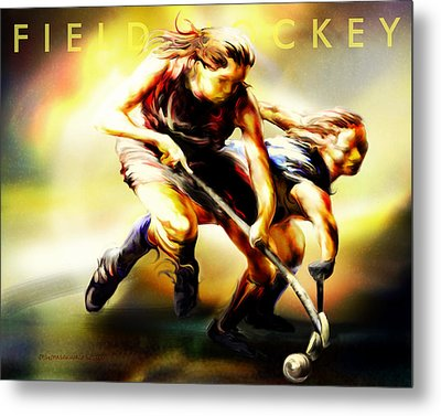Women In Sports - Field Hockey Metal Print by Mike Massengale