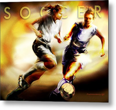 Women In Sports - Soccer Metal Print