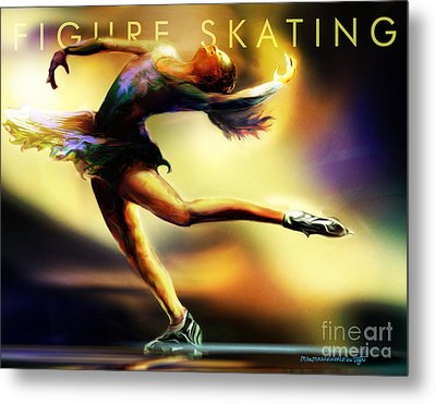 Women In Sports - Figure Skating Metal Print