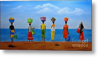 Women Of Africa  Metal Print by Bev Conover