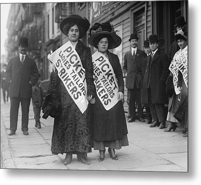 Women Strike Pickets From Ladies Metal Print by Everett