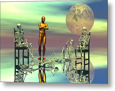 Women Waiting For The Perfect Man Metal Print by Claude McCoy