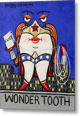 Wonder Tooth Metal Print by Anthony Falbo