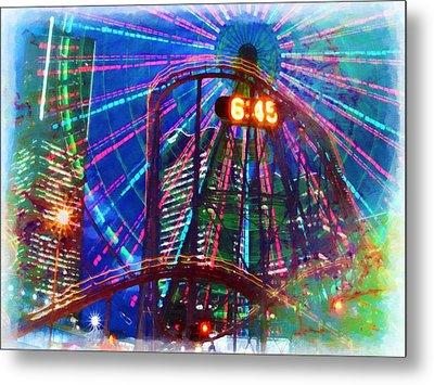 Wonder Wheel At The Coney Island Amusement Park Metal Print by Lanjee Chee