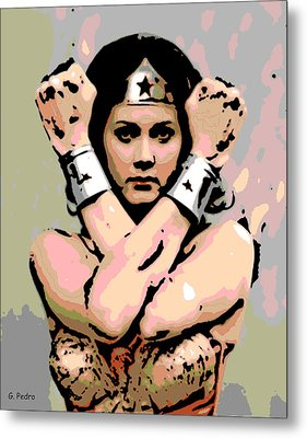 Wonder Woman Metal Print by George Pedro