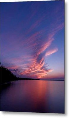 Metal Print featuring the photograph Wonderful Skeleton Lake Sunset by Darcy Michaelchuk