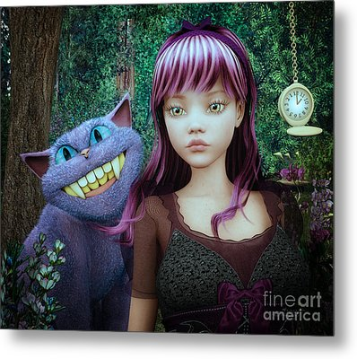 Wonderland Alice Metal Print by Jutta Maria Pusl